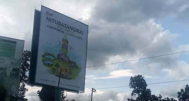 The billboard that has sparked outrage in Fort Portal