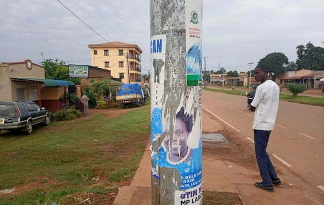 Defaced posters of Leader of Opposition, Betty Aol Ocan