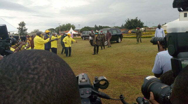 Museveni in Acholi region
