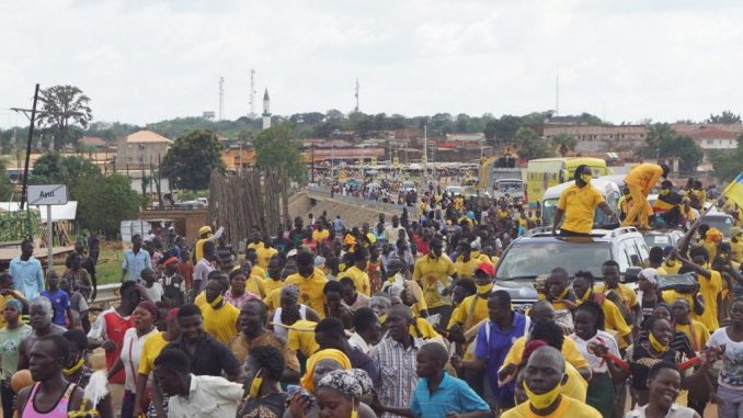 NRM mobilizer and musician Bebe Cool in Kitgum