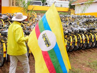 museveni-flags-bicycles-for-nrm-village-chairpersons