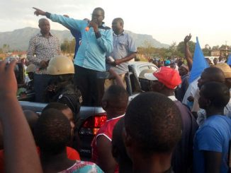 Patrick Amuriat campaigning in Mbale City