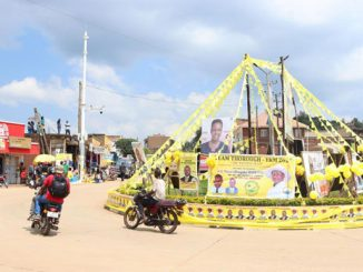 Rukungiri roundabout NRM campaign posters