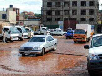 Potholes in Kampala Roads