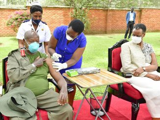President Museveni, First Lady vaccinated against COVID-19
