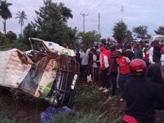 At least 3 dead, 11 critically injured as taxi overturns in Jinja road accident