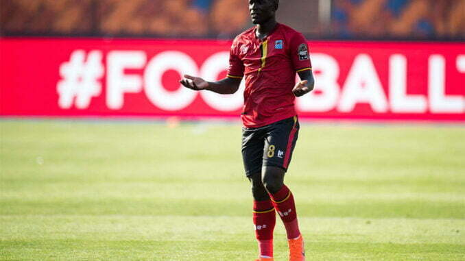 Uganda Cranes Khalid Aucho dismissed from camp ahead of crucial AFCON qualifiers