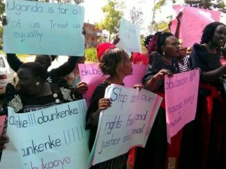 Wakiso women stage protest over abducted persons on Women's Day