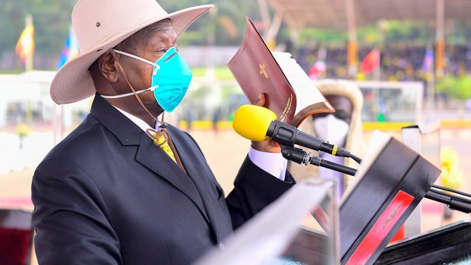 I don't need lectures about democracy, says Museveni as he takes oath of office