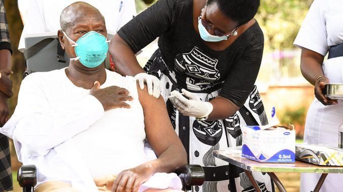 President Museveni, First Lady receives second COVID-19 vaccine jab