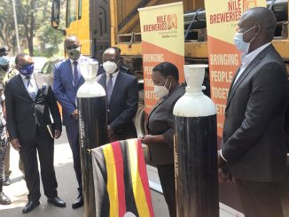 Nile Breweries donates 300 oxygen cylinders to referral hospitals