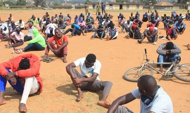 Security in Mbarara arrests 150 in crackdown on non-essential workers