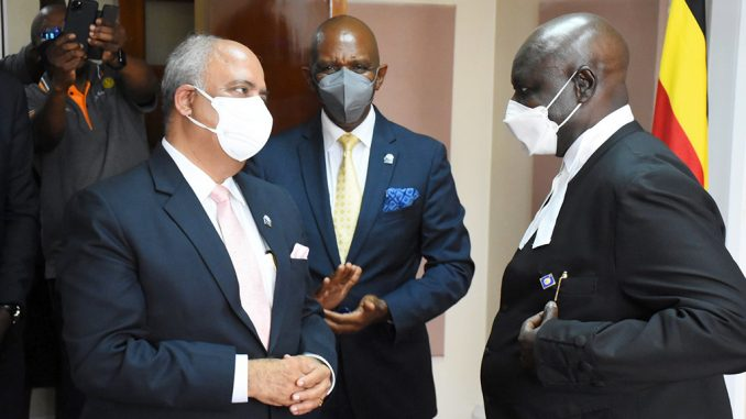 Uganda's parliament praises Rotary for humanitarian work in the country